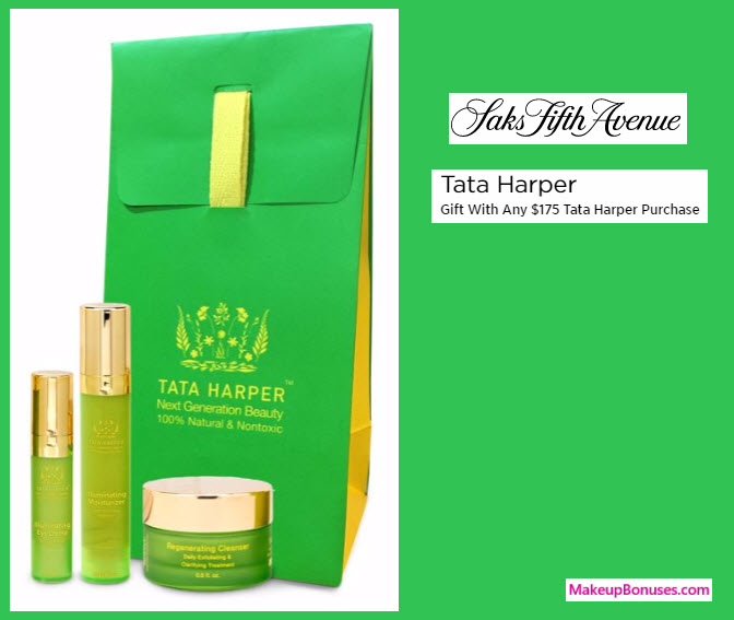 Receive a free 3-pc gift with your $175 Tata Harper purchase