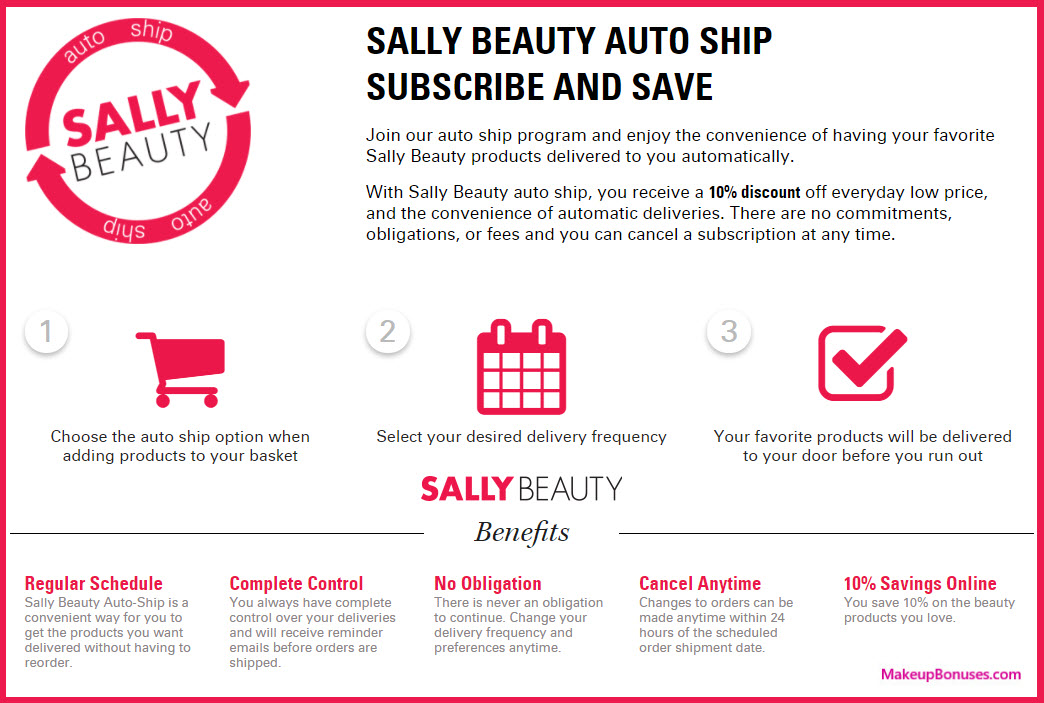 Sally Beauty Auto Delivery Service - MakeupBonuses.com