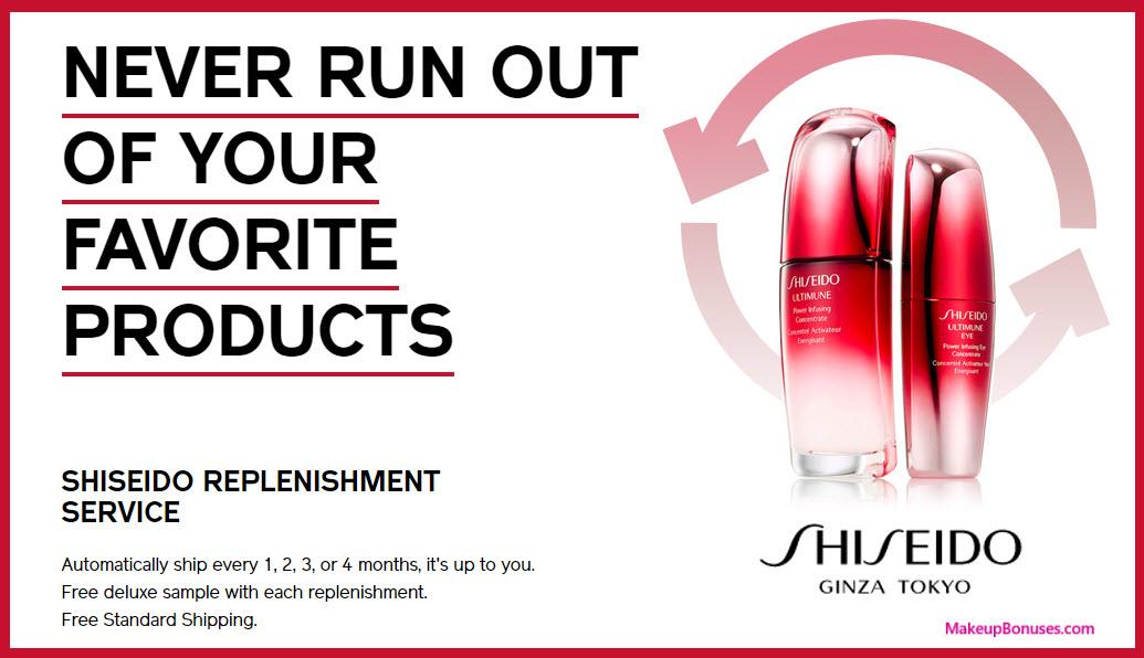 Shiseido Auto Delivery Service - MakeupBonuses.com