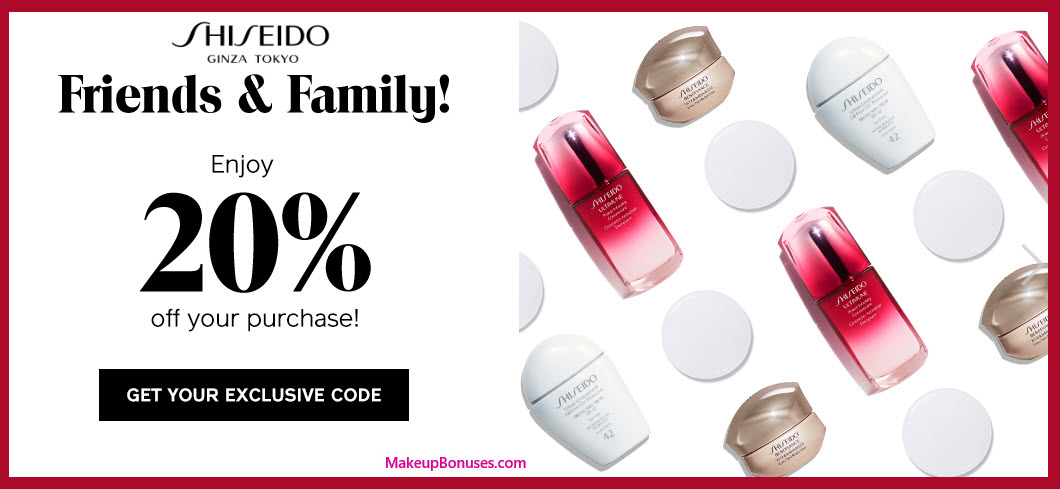 Shiseido Sale - MakeupBonuses.com