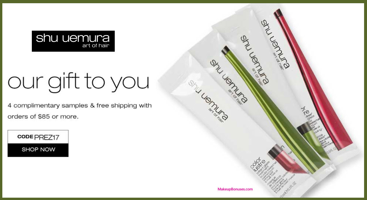 Receive a free 4-pc gift with your $85 Shu Uemura Art of Hair purchase