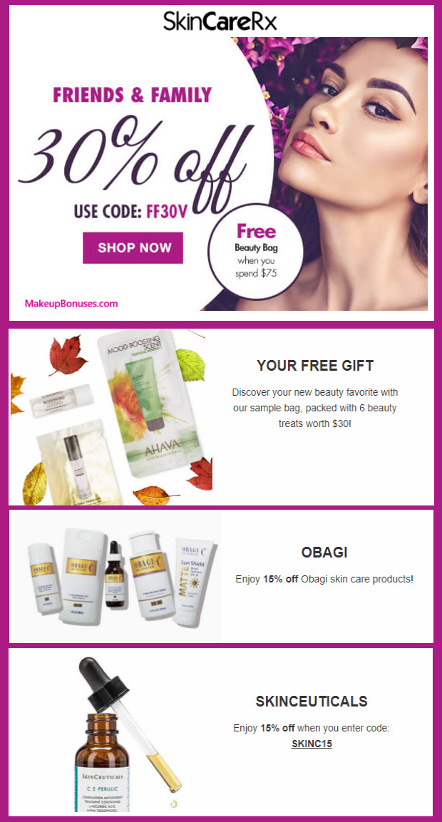 Receive a free 6-pc gift with your $75 Multi-Brand purchase