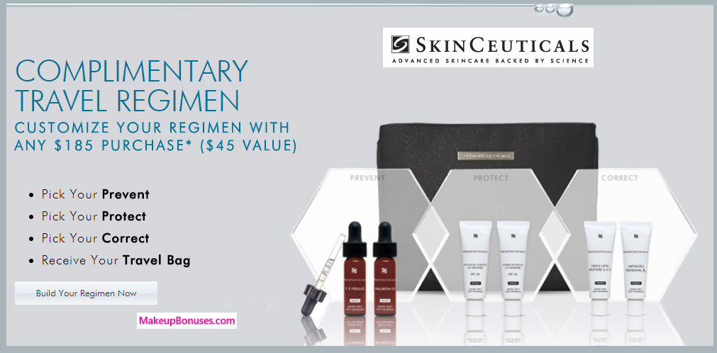 Receive your choice of 4-pc gift with your $185 SkinCeuticals purchase