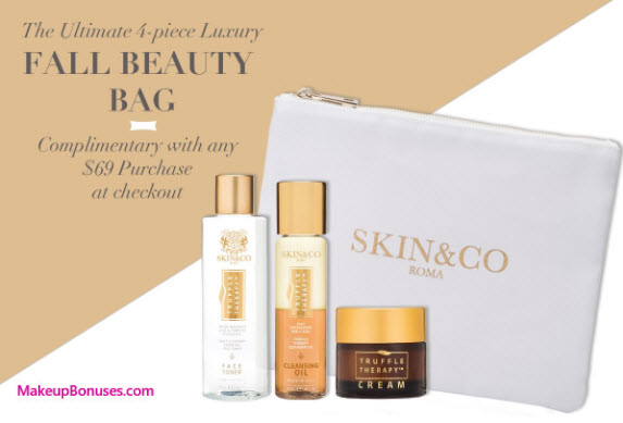 Receive a free 4-pc gift with your $69 Skin and Co Roma purchase