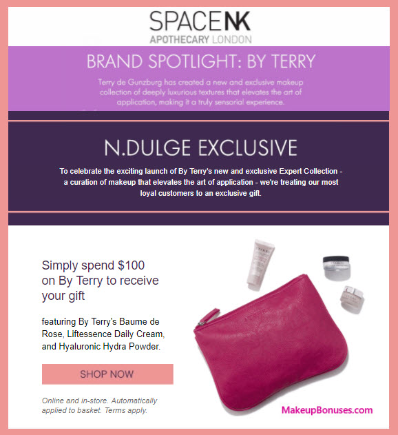 Receive a free 4-pc gift with your $100 By Terry purchase