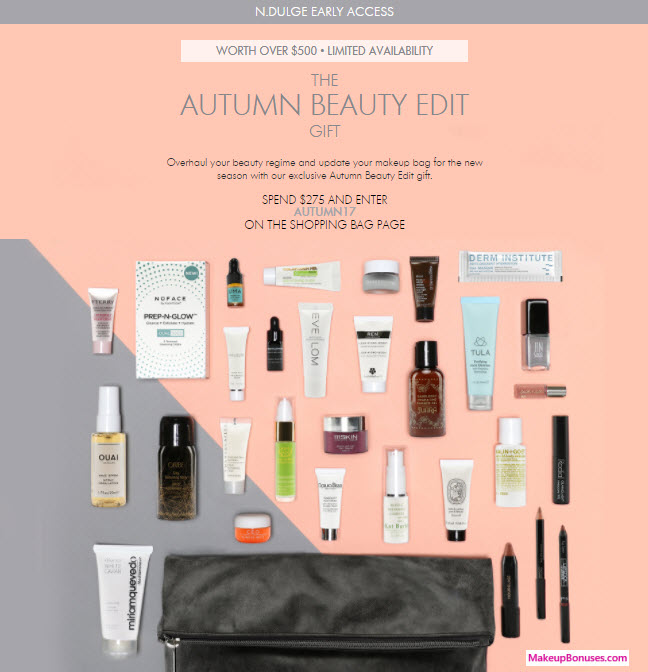 Receive a free 31-pc gift with your $275 Multi-Brand purchase
