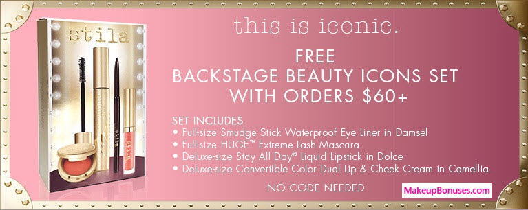 Receive a free 4-pc gift with your $60 Stila purchase