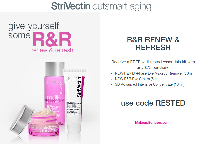 Receive a free 3-pc gift with your $75 StriVectin purchase