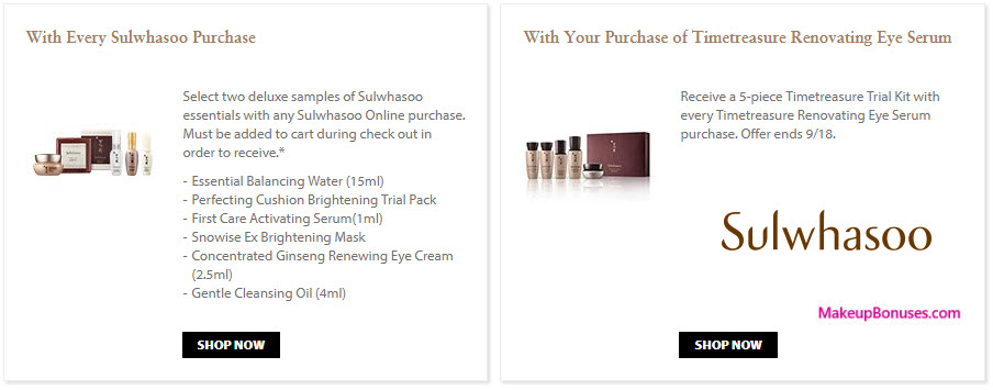 Receive a free 5-pc gift with your Timetreasure Renovating Eye Serum purchase