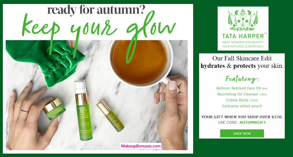 Receive a free 4-pc gift with your $150 Tata Harper purchase