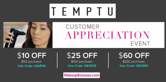 Temptu Sale - MakeupBonuses.com