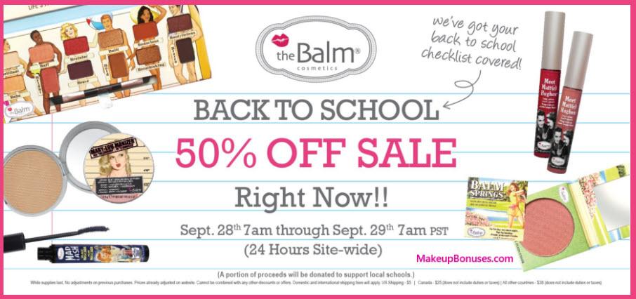 The Balm Sale - MakeupBonuses.com