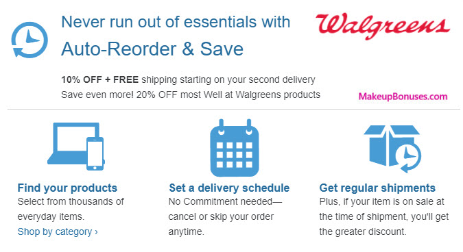 Walgreens Auto Delivery Service - MakeupBonuses.com