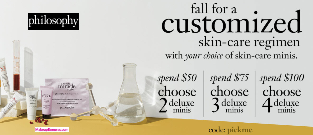 Receive your choice of 4-pc gift with your $100 philosophy purchase