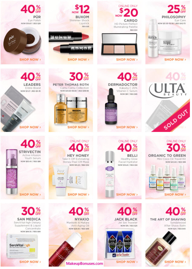 Ulta 21 Days of Beauty Discounts