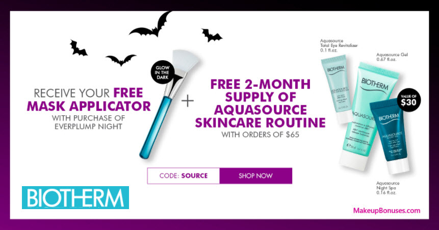 Receive a free 4-pc gift with your $65 Biotherm purchase