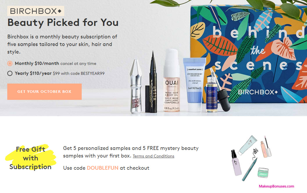 Receive a free 5-pc gift with your subscription purchase