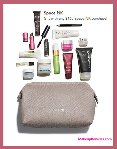 Receive a free 15-pc gift with your $165 Space NK purchase