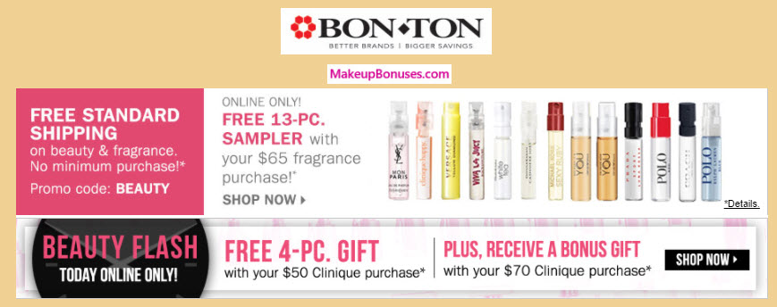 Receive a free 4-pc gift with your $50 Clinique purchase