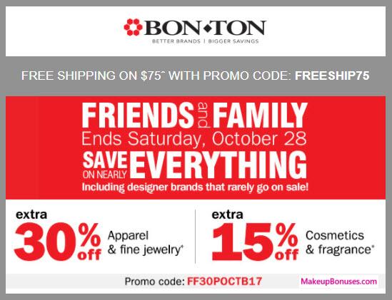Bon-Ton Sale - MakeupBonuses.com
