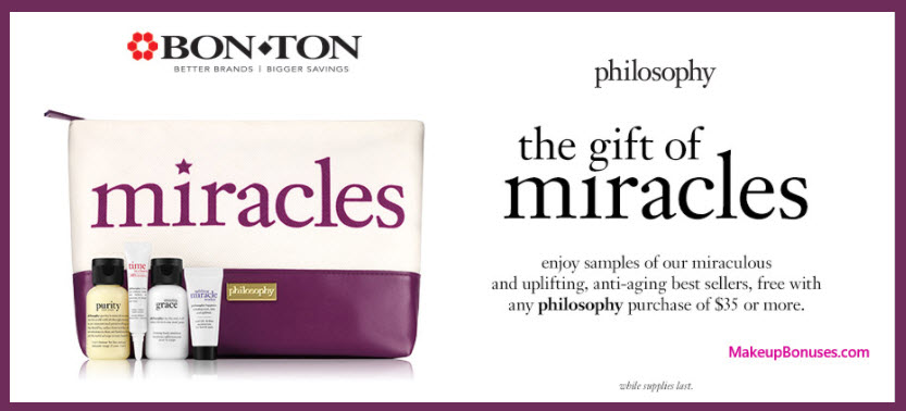 Receive a free 5-pc gift with your $35 Philosophy purchase
