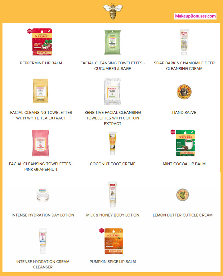 Receive your choice of 3-pc gift with your $35 Burt's Bees purchase