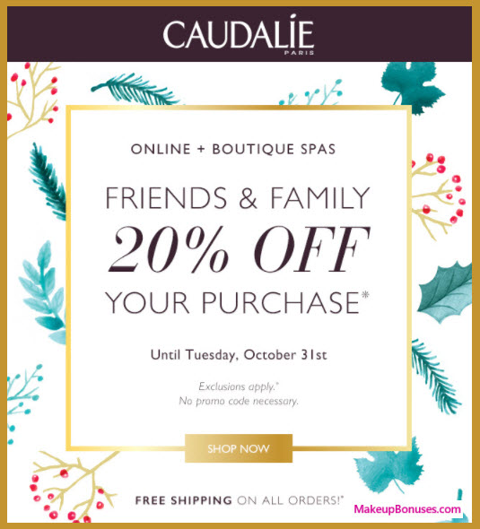 Caudalie Sale - MakeupBonuses.com