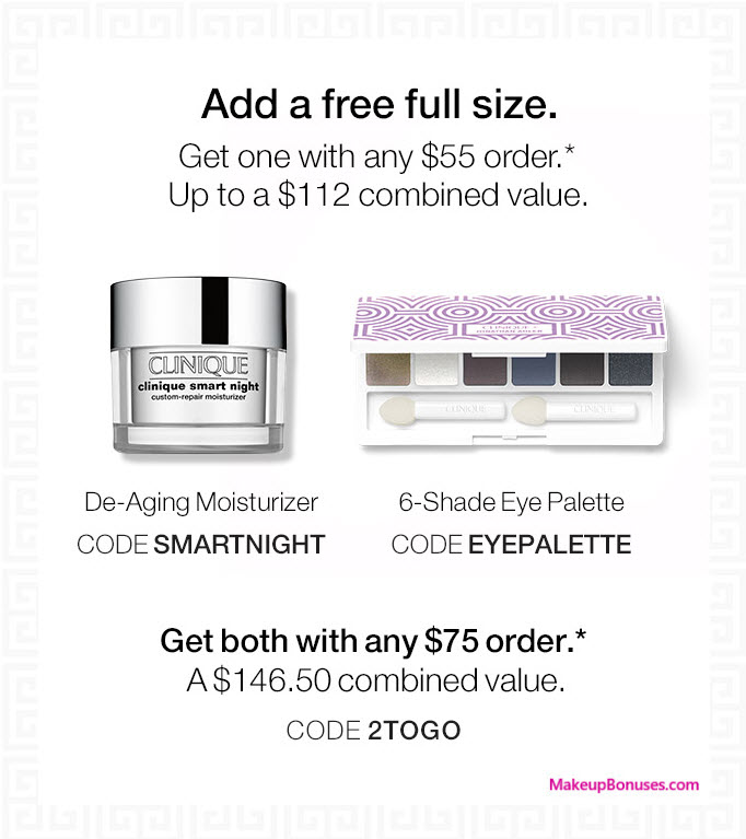 Receive a free 8-pc gift with your $55 Clinique purchase
