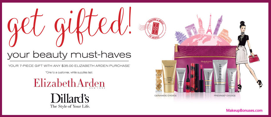 Receive a free 7-pc gift with your $35 Elizabeth Arden purchase