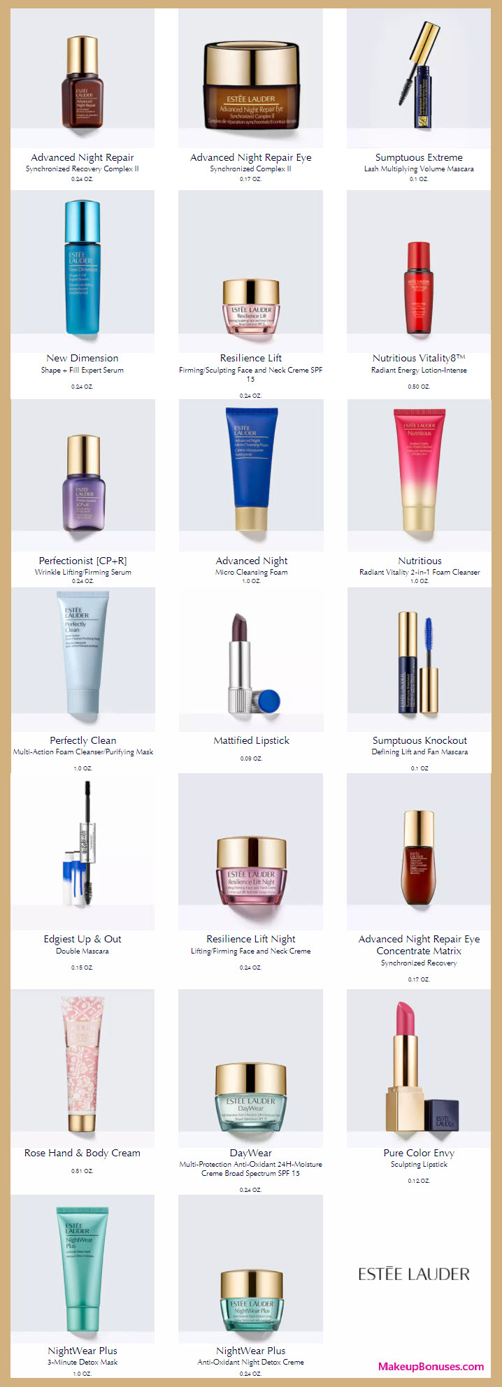 Receive your choice of 3-pc gift with your $75 Estée Lauder purchase