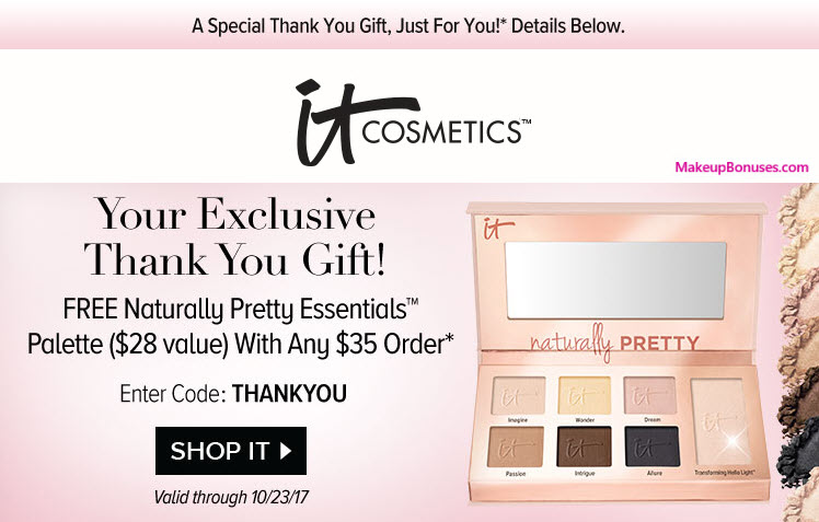Receive a free 7-pc gift with your $35 It Cosmetics purchase