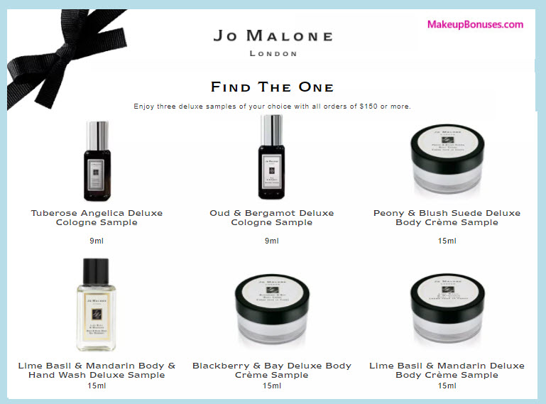 Receive your choice of 3-pc gift with your $150 Jo Malone purchase
