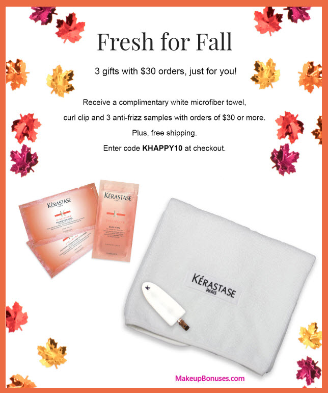 Receive a free 5-pc gift with your $30 Kérastase purchase