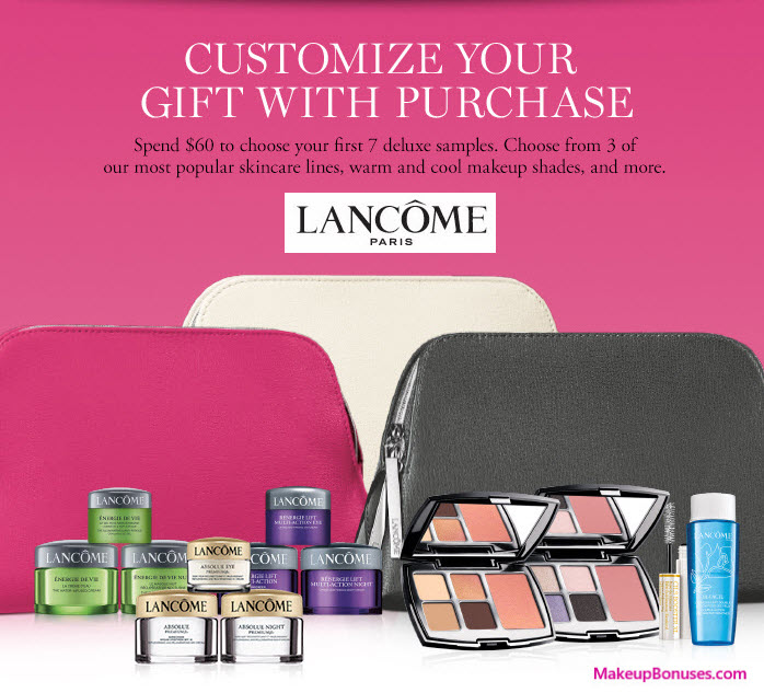 Receive a free 7-pc gift with your $60 Lancôme purchase