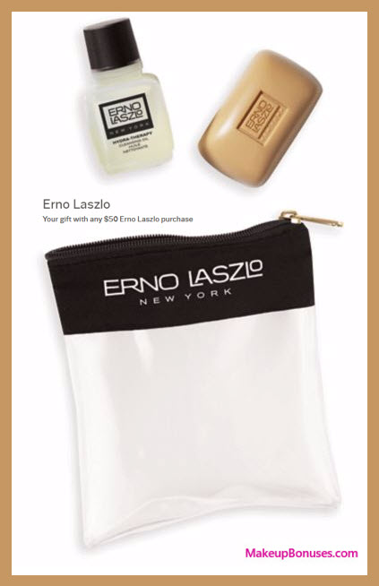 Receive a free 3-pc gift with your $50 Erno Laszlo purchase