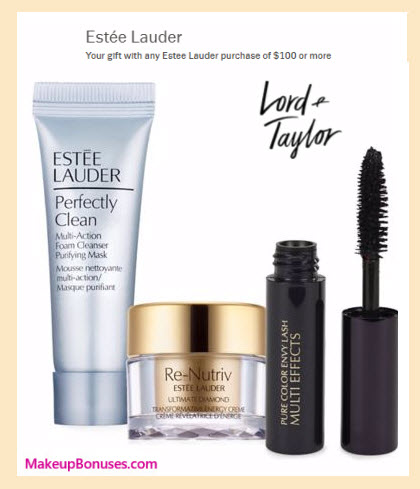 Receive a free 3-pc gift with your $100 Estée Lauder purchase