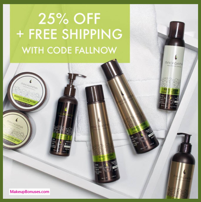 Macadamia Professional Sale - MakeupBonuses.com