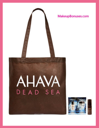Receive a free 3-pc gift with your $45 AHAVA purchase