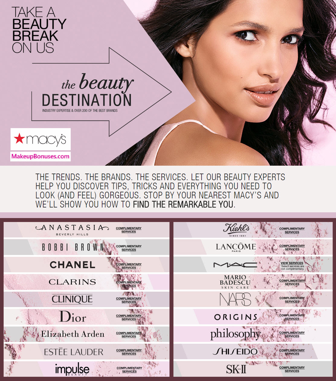 Macy's Free Beauty Services - MakeupBonuses.com