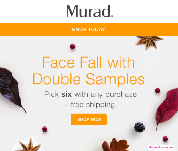 Receive your choice of 6-pc gift with your any Murad purchase