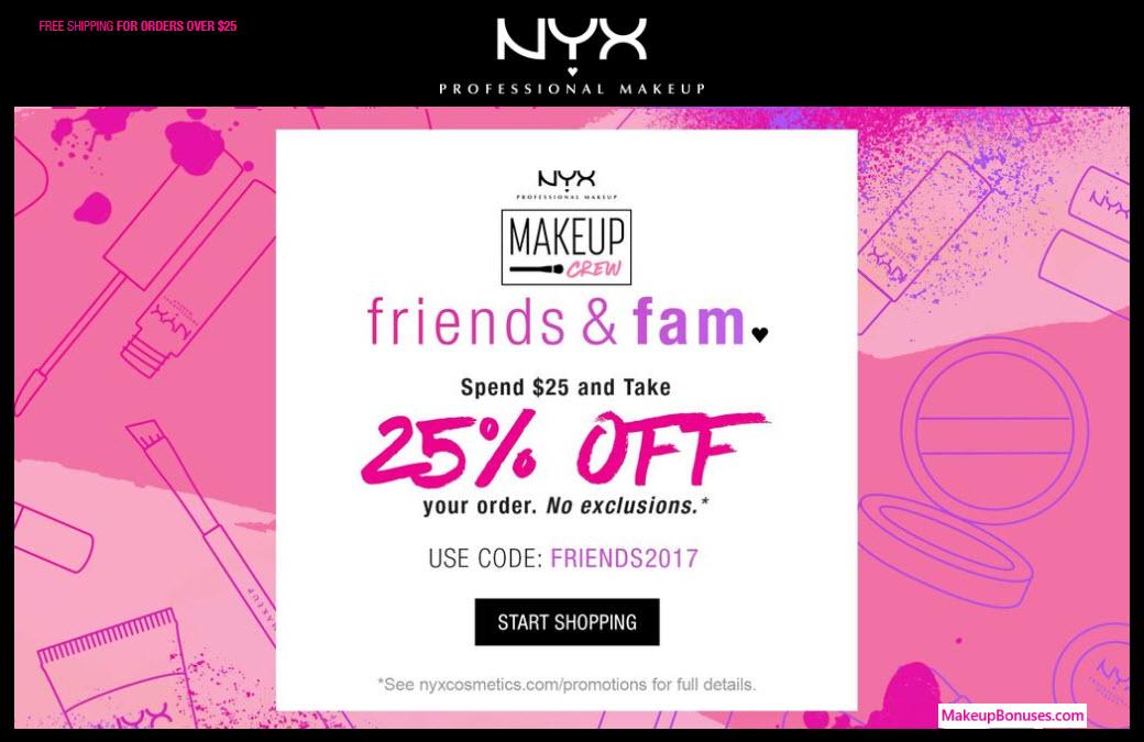 NYX Cosmetics Sale - MakeupBonuses.com