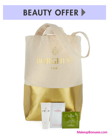 Receive a free 4-pc gift with your $350 Borghese purchase