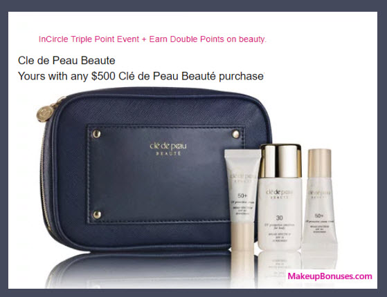 Receive a free 4-pc gift with your $500 Clé de Peau Beauté purchase