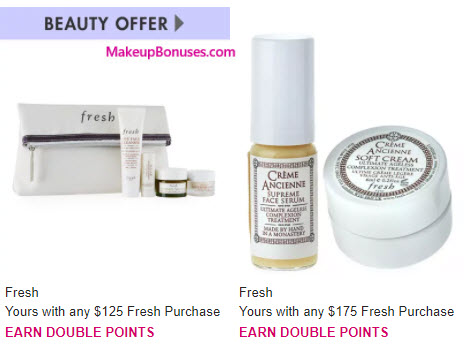 Receive a free 5-pc gift with your $125 Fresh purchase
