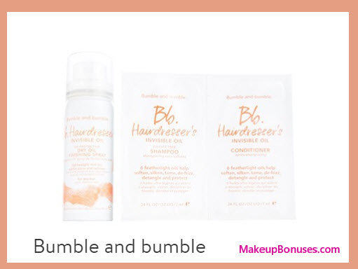 Receive a free 3-pc gift with your $50 Bumble and bumble purchase