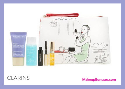 Receive a free 5-pc gift with your $45 Clarins purchase