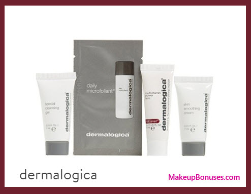 Receive a free 4-pc gift with your $75 Dermalogica purchase