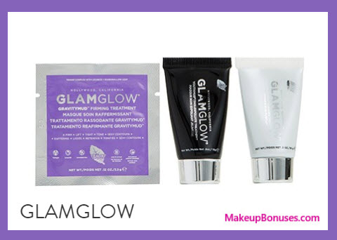 Receive a free 3-pc gift with your $75 GlamGlow purchase