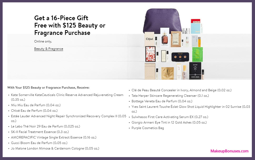 Receive a free 16-pc gift with your $125 Multi-Brand purchase