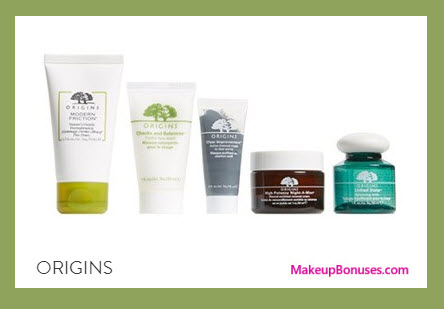 Receive a free 5-pc gift with your $65 Origins purchase